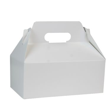 White Carry Out Gable Box 8-7/8 x 5 x 3-1/2