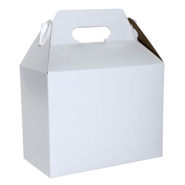 White Outside, Kraft Inside Carry Out Gable Box 9-1/2 x 5 x 5