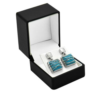 Premium Textured Earring Box Black