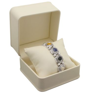 Cream Pillow Watch Bracelet Box