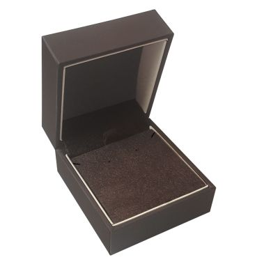 Mahogany Brown Velvet Pendant/Earring Box