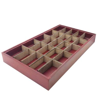 "25 Compartment-Full Size Wood insert ""Tray Included"""