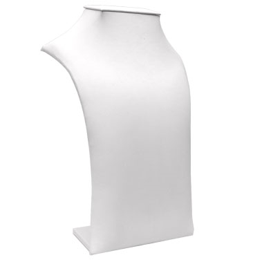 White Square Top Padded Necklace Display Lg.