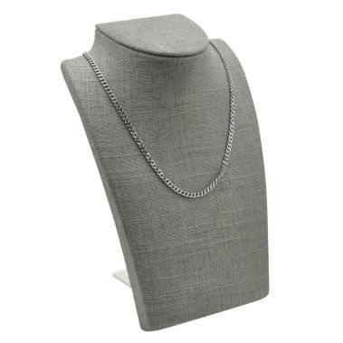 Grey Linen Traveling Necklace Display