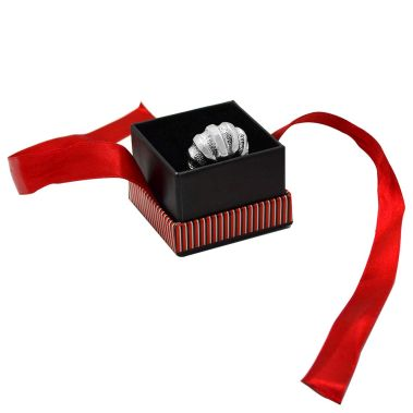 Red Striped Ring Box