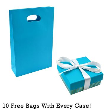 SUPER BUNDLE - Aqua Striped Pendant/Earring Box