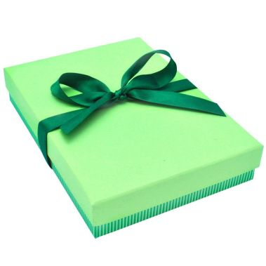 Green Striped Lg. Necklace Box