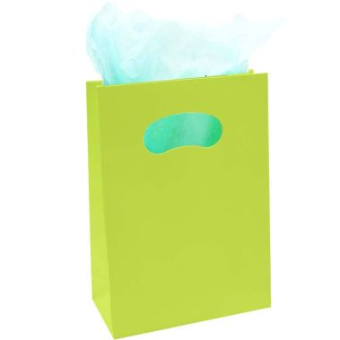 Matte Tote Bags Citrus Green (Md.)