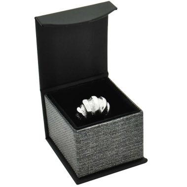 Grey Magnetic Ring Box
