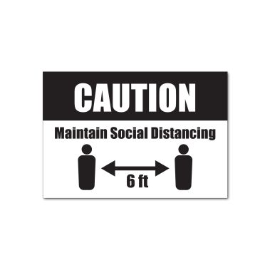 Social Distance Sign - Style 2