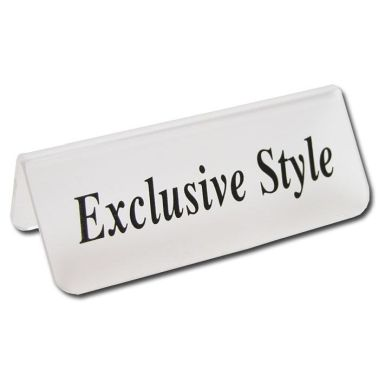 "Acrylic ""Exclusive Style"" Sign"