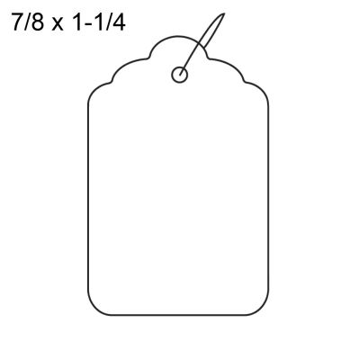 Merchandise Tags White