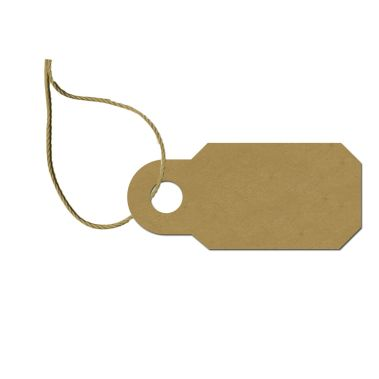 Kraft Pricing Tag with String