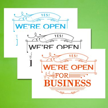 We Are Open Sign - Style 2