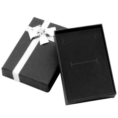 Black Bow-tie Pendant/Ring Combo Box