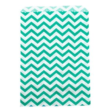 "Teal Chevron Gift Bag 6"" x 9"""