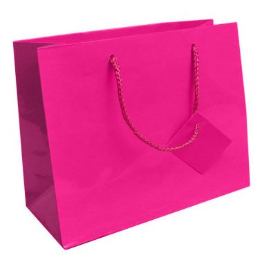 Glossy Hot Pink Euro Tote Bag (Lg.)