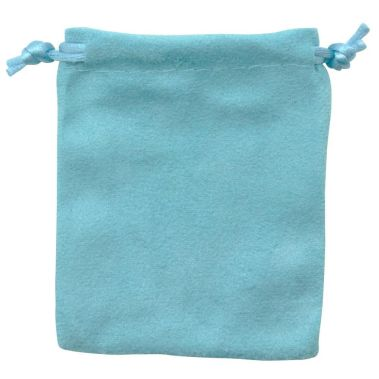 Teal Blue Suede Pouch